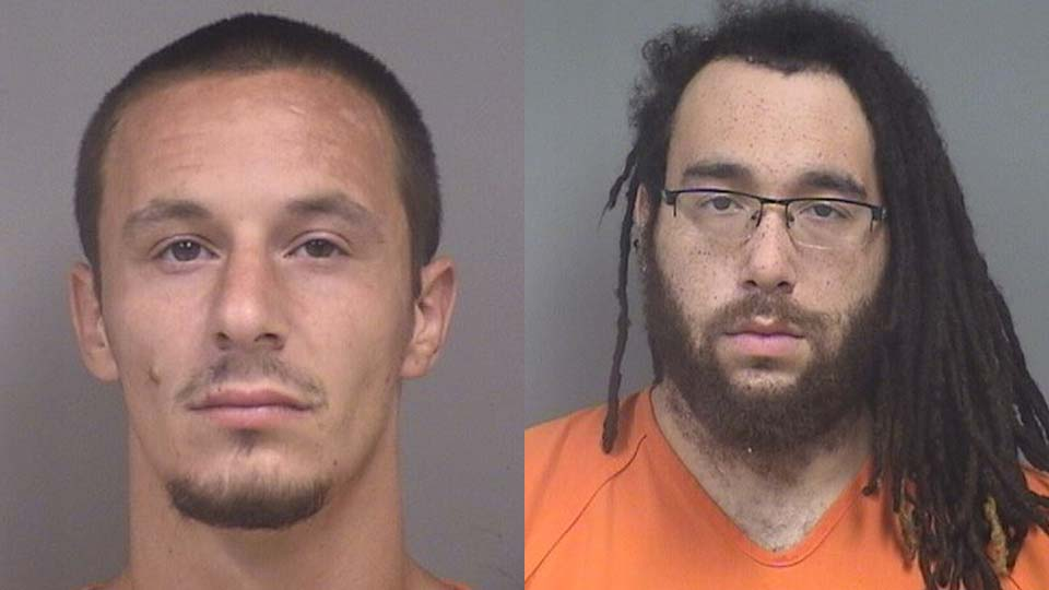Jonathan Deeds and Isiah Patterson, facing gun charges in Campbell, Ohio.