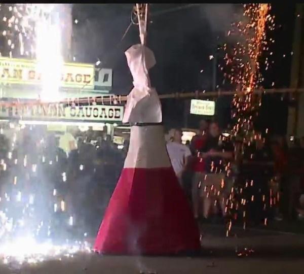 Lowellville Mount Carmel Festival babydoll dance