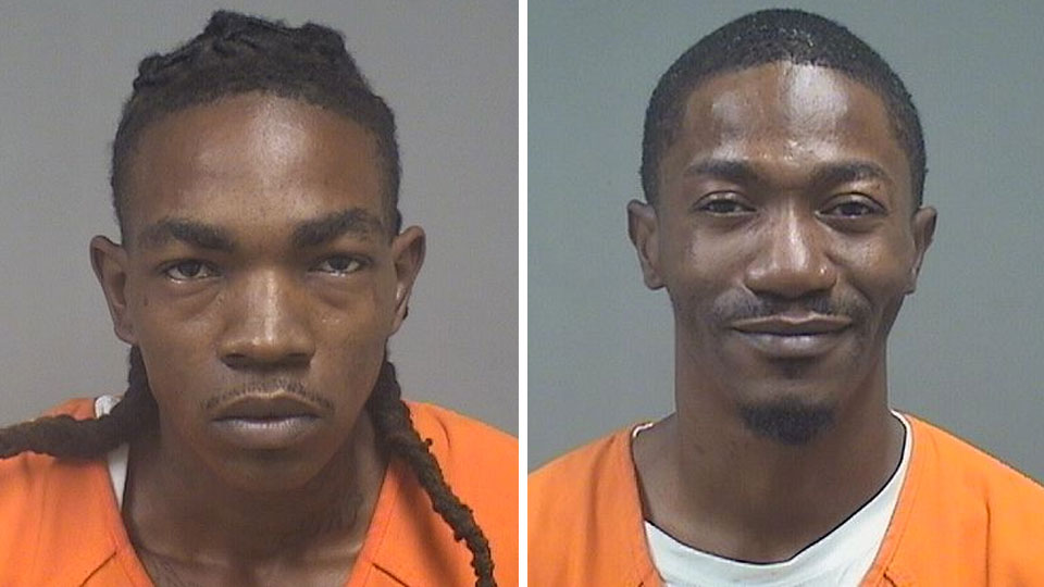 Marchello Stokes (left), charged with possession of drugs, using weapons while intoxicated and arrest of probationer in Youngstown and Collin Turner (right), charged with possession of drugs, drug paraphernalia, and having weapons under disability in Youngstown.
