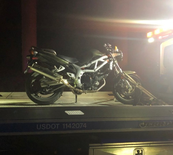 Motorcycle crash on Interstate 680