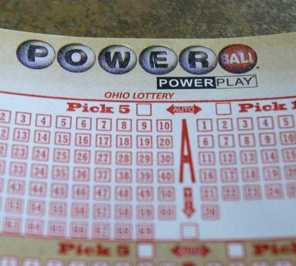 Ohio Powerball lottery ticket