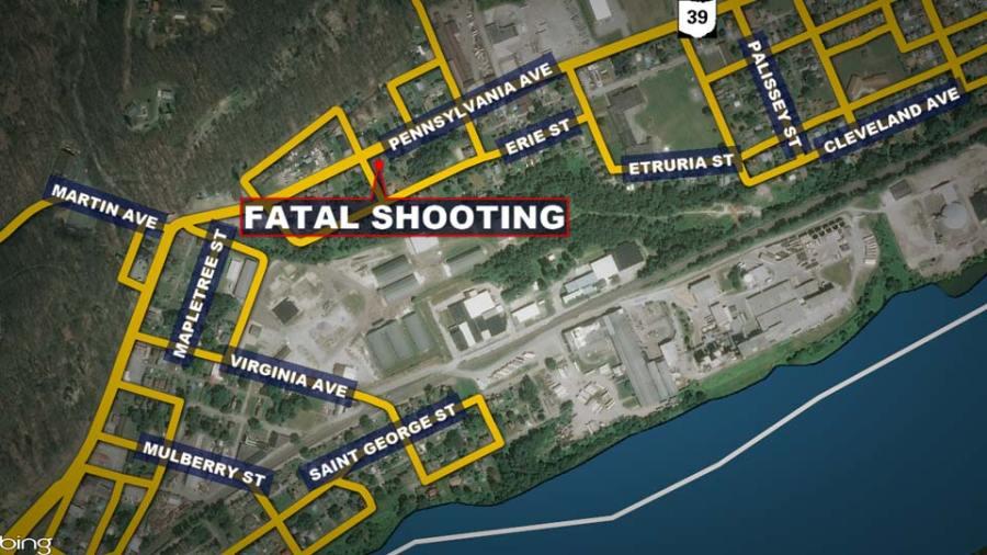Pennsylvania Avenue, East Liverpool, Fatal Shooting Map