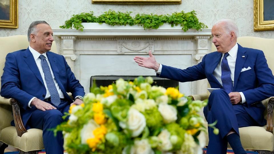 President Joe Biden and Iraqi Prime Minister Mustafa Al-Kadhimi