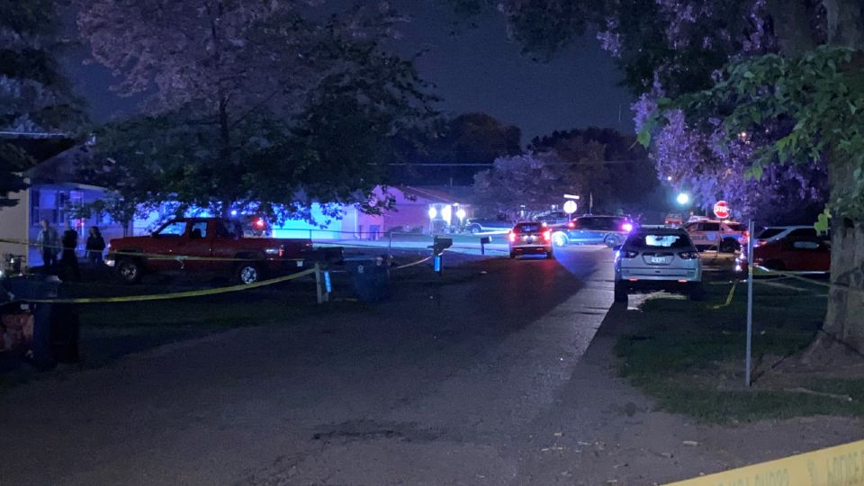 A police officer in Ohio responding to a burglary call shot and killed a man who police said had opened fire on the officer.