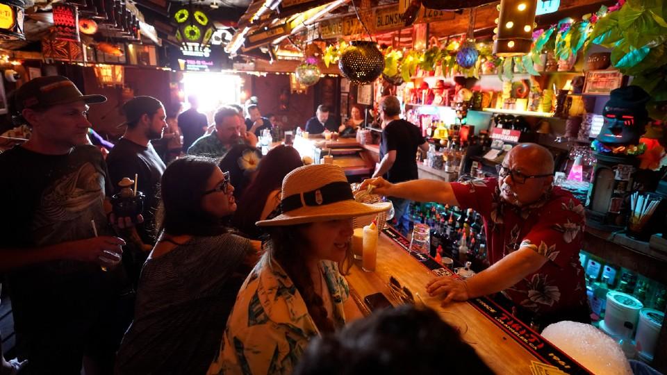 Tiki-ti bar on Sunset Boulevard in Los Angeles