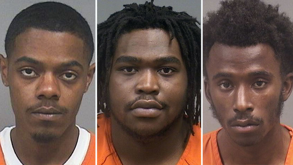 City police seized three guns and arrested three people in two separate incidents.