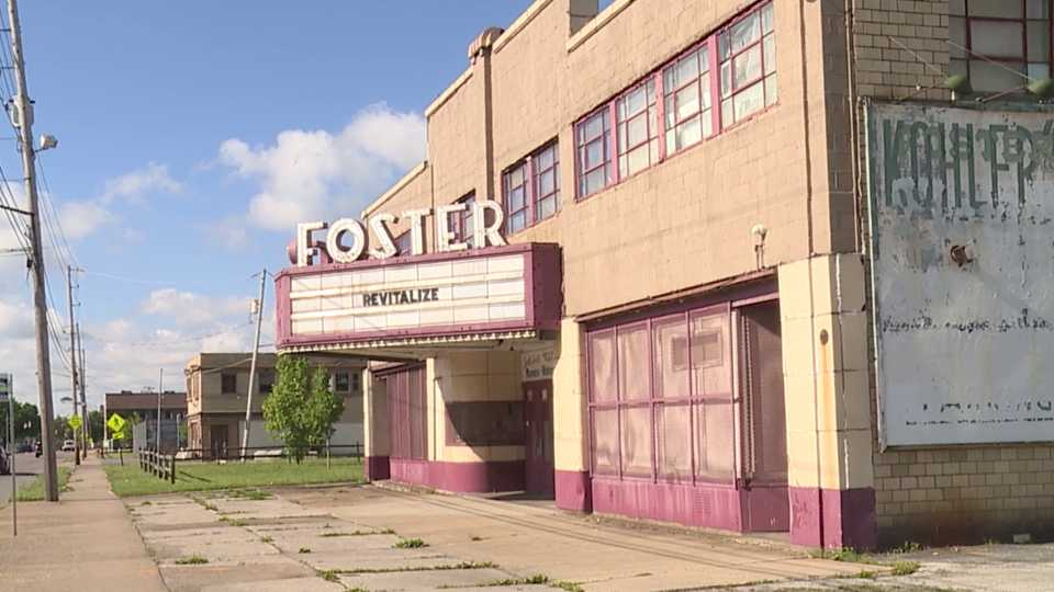 The Youngstown Neighborhood Development Corporation is planning on fully restoring the marquee and façade at the historic Foster Theater on Youngstown's south side.