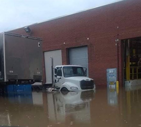 Youngstown truck under water