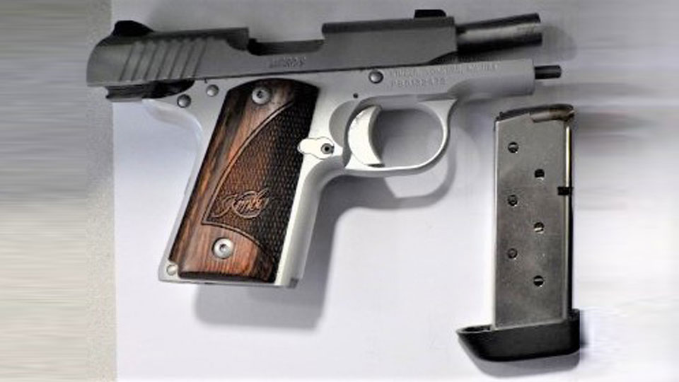 TSA officers at Pittsburgh International Airport stopped a woman with this loaded handgun at the security checkpoint on July 26.