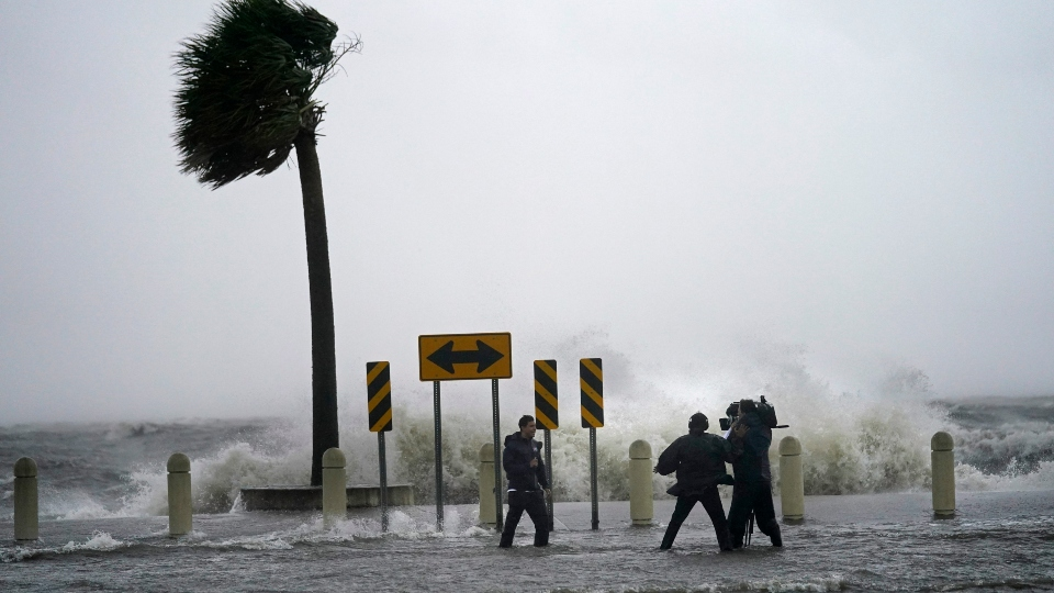 blasts ashore in Louisiana with major force