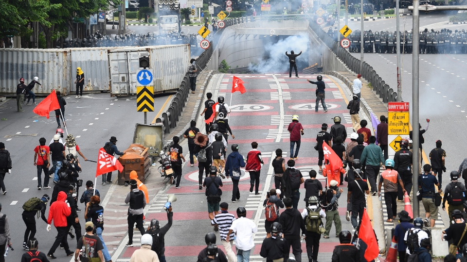 Thai police fire tear gas at protest over COVID response