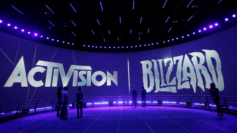 FILE - This June 13, 2013 file photo shows the Activision Blizzard Booth during the Electronic Entertainment Expo in Los Angeles. The president of Activision's Blizzard Entertainment is stepping down, Tuesday, Aug. 3, 2021, weeks after the company was hit with a discrimination and sexual harassment lawsuit in California as well as backlash from employees over the work environment. (AP Photo/Jae C. Hong, File)