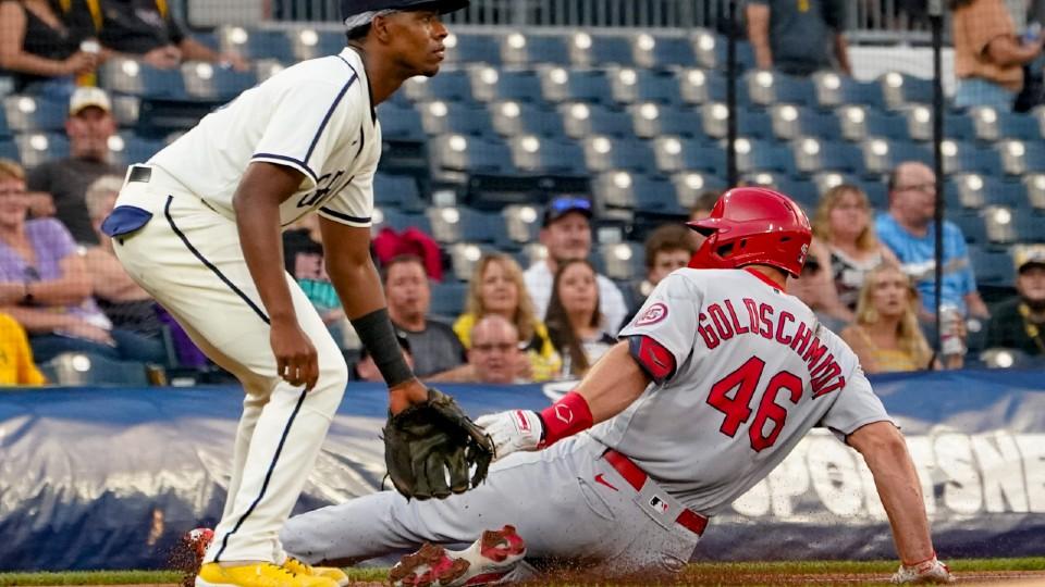 Cardinals and Pirates baseball