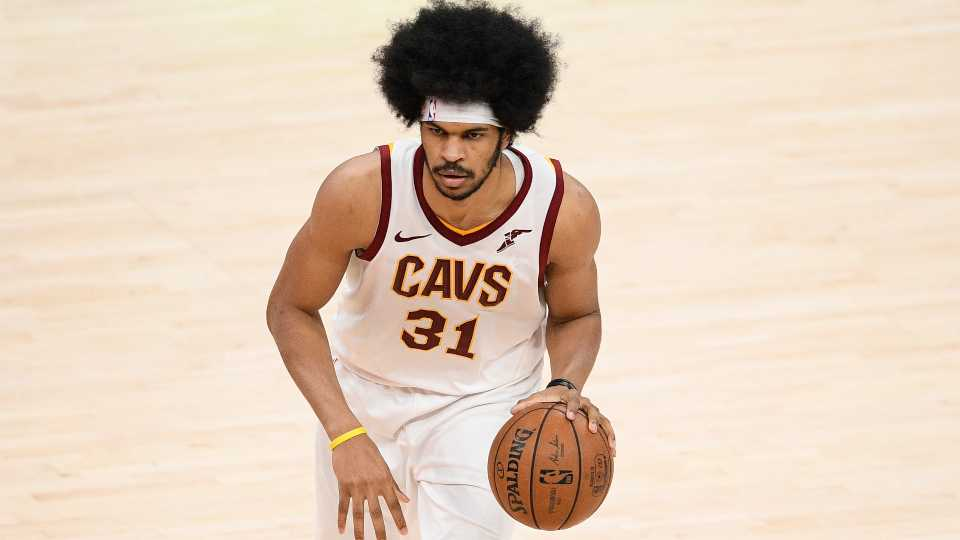 Cleveland Cavaliers center Jarrett Allen (31) in action during the second half of an NBA basketball game against the Washington Wizards, Friday, May 14, 2021, in Washington.