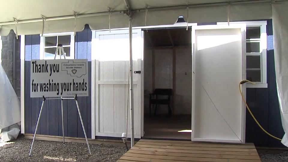 Columbiana County health fair tent