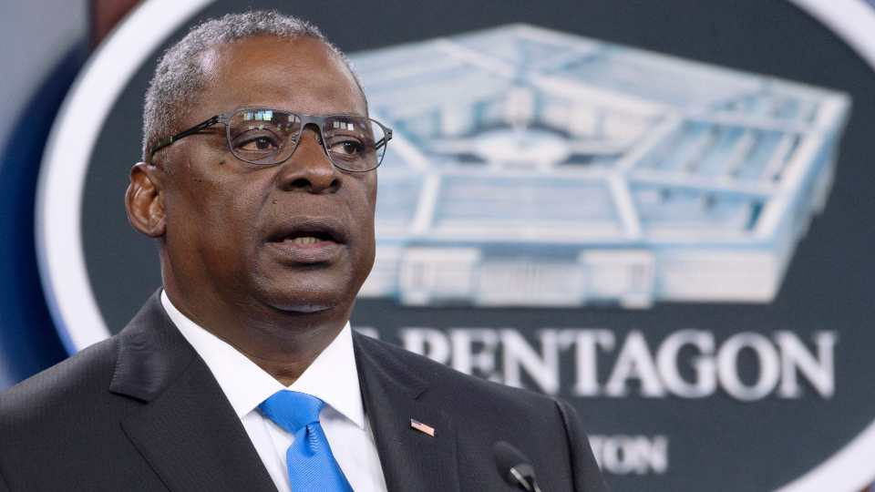 In this July 21, 2021 file photo, Defense Secretary Lloyd Austin speaks at a press briefing at the Pentagon in Washington. Austin has said he is working expeditiously to make the COVID-19 vaccine mandatory for military personnel and is expected to ask Biden to waive a federal law that requires individuals be given a choice if the vaccine is not fully licensed.