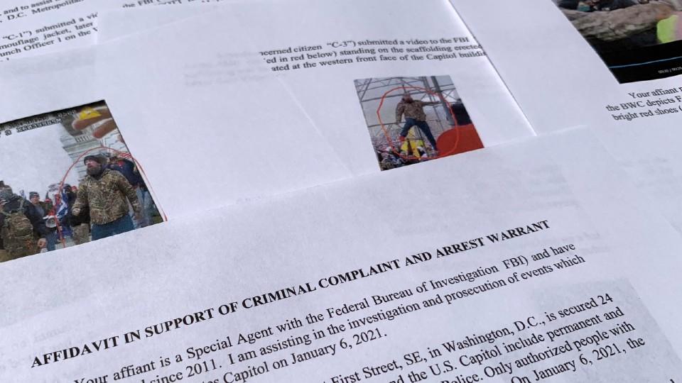 FBI affidavit from capitol riot