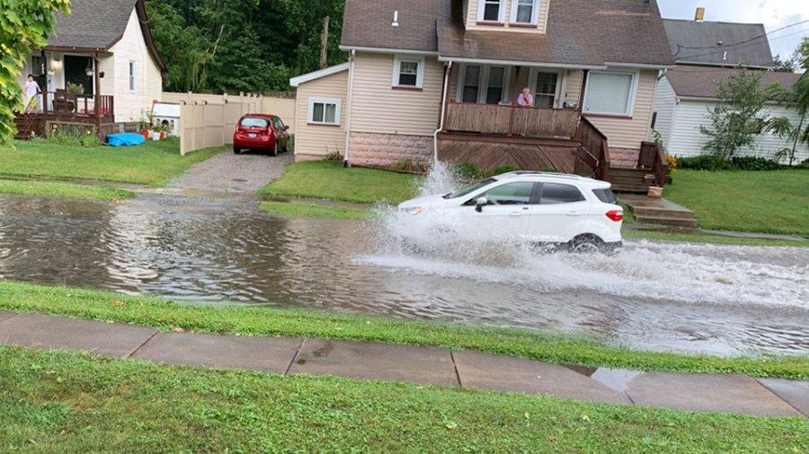 Flooding, Niles, Ohio