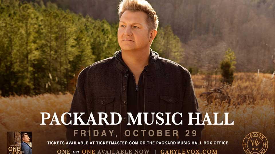 Gary LeVox at Packard Music Hall in Warren, Ohio on October 29, 2021