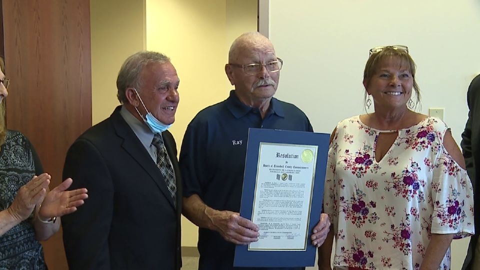 A Trumbull County veteran who has been active in veterans affairs since 1995 was honored by Trumbull County Commissioners Wednesday.