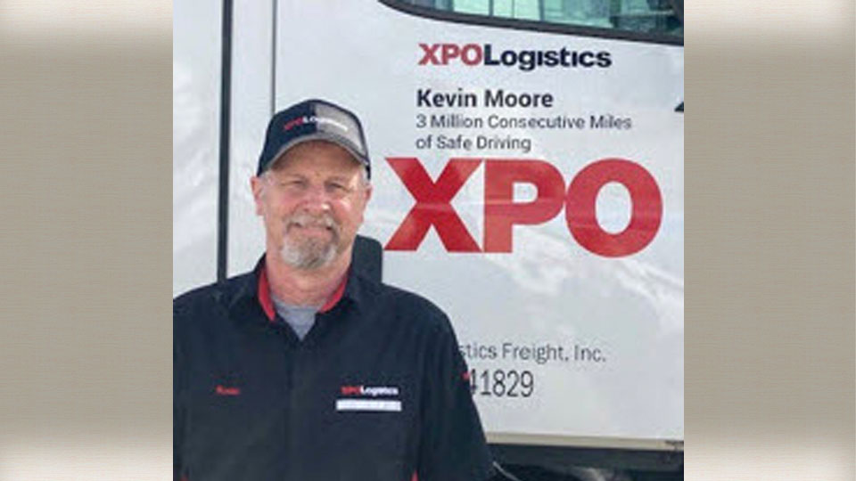 Kevin Moore, Xpo Logistics, Youngstown Truck Driver Recognized for 3 Million-Mile Achievement