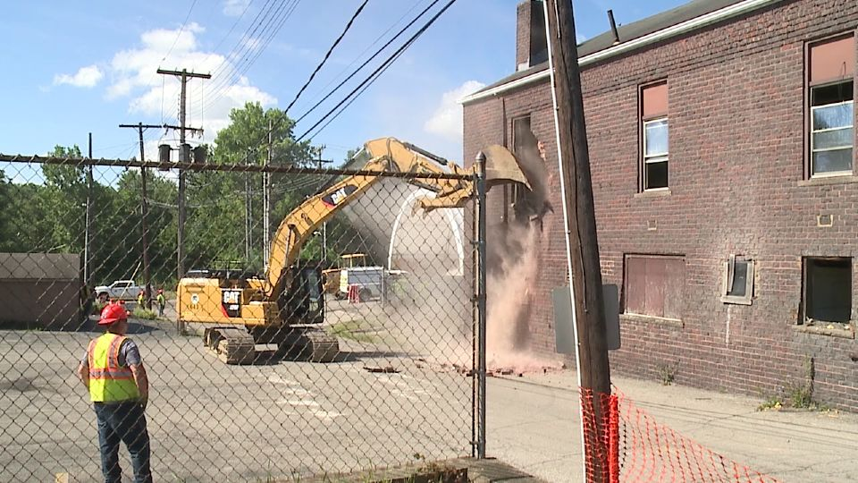 Niles Daily Times building demolition
