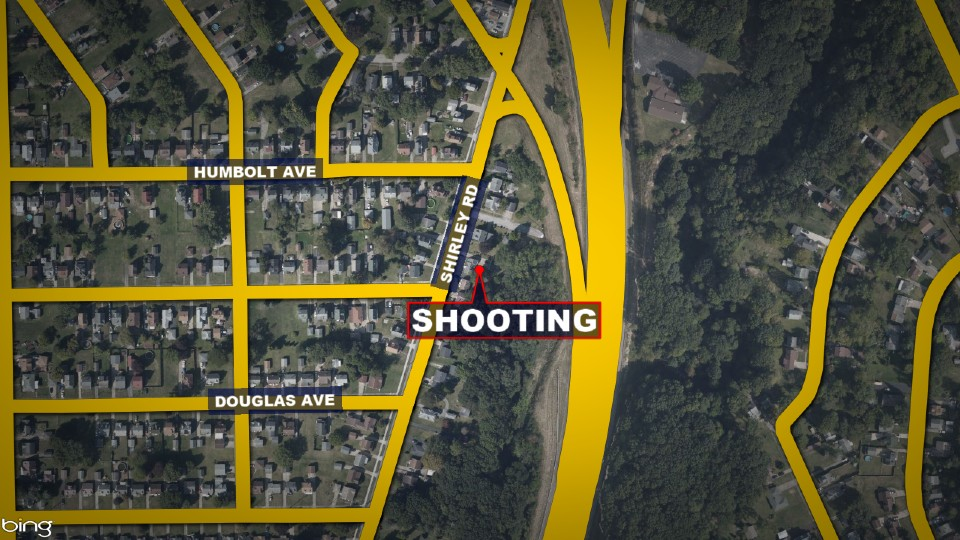 Shirley Road shooting map, Youngstown