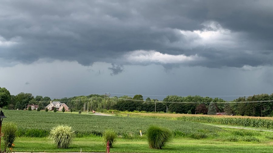 Stormy weather, Newton Falls