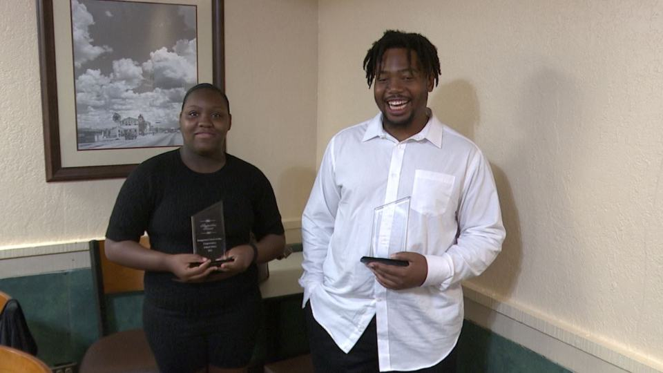 Youngstown United As One honored two young volunteers, Aaliyah Dukes and Frank Matthews, for their service on Sunday.