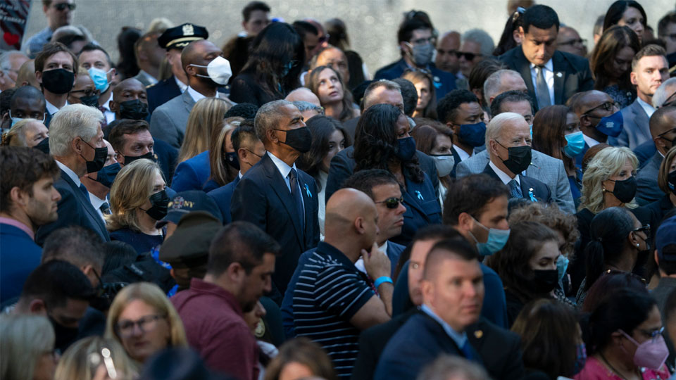 Biden, Obama, Clinton mark 9/11 in NYC with display of unity