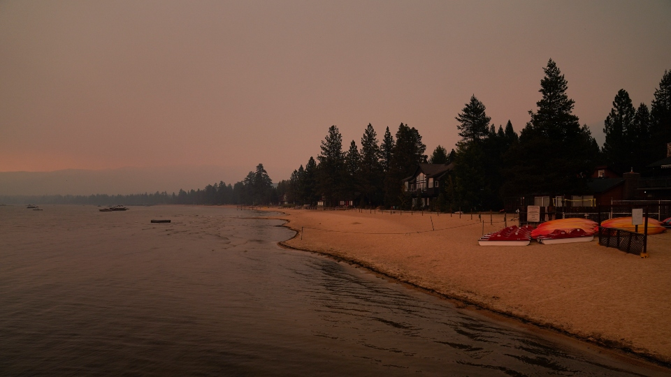 Evacuations lifted for thousands in Tahoe as wildfire stalls