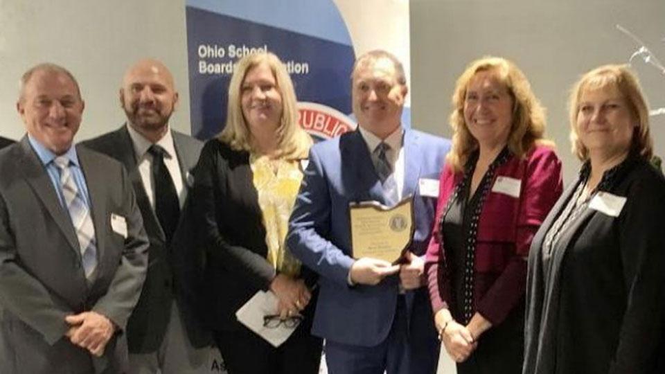 Northeast Region Ohio School Boards Association Recognizes Local Superintendent (1)