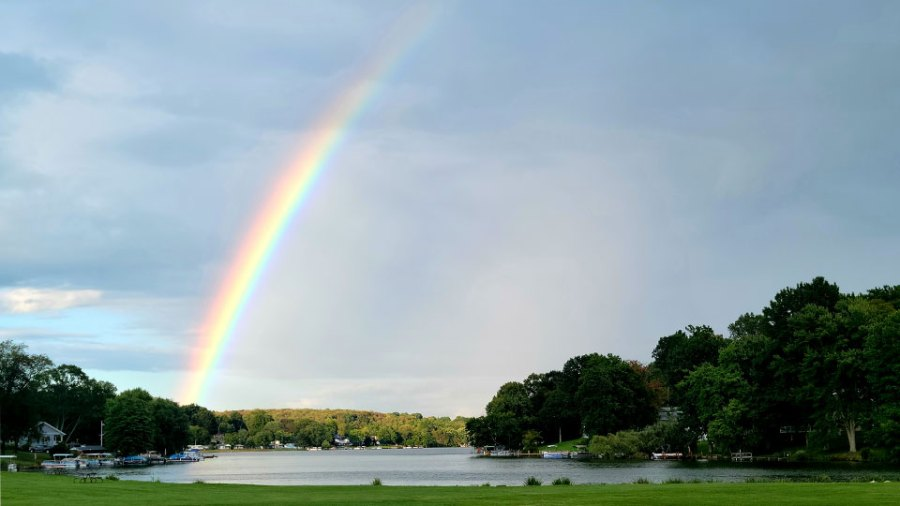 Abby, Guilford Lake rainbow