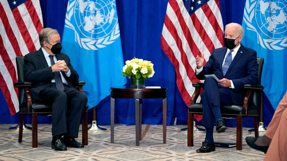 President Joe Biden planned to use his first address before the U.N. General Assembly to reassure other nations of American leadership on the global stage and call on allies to move quickly and cooperatively to address the festering issues of the COVID-19 pandemic, climate change and human rights abuses.