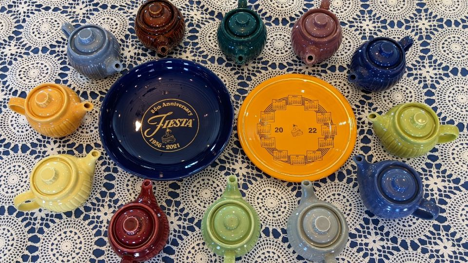 The pandemic hit pottery maker Fiesta Tableware with the closing of its Hall China plant on Ann Street in East Liverpool, but pieces from the popular pottery collection are available now through an online auction to benefit the East Liverpool Alumni Association (ELHSAA).