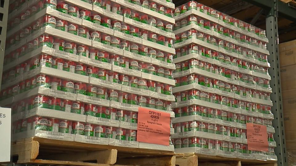 On Tuesday, a group of volunteers packed boxes, which will be passed out this week at one of the 150 food pantries in Mahoning, Columbiana and Trumbull counties.