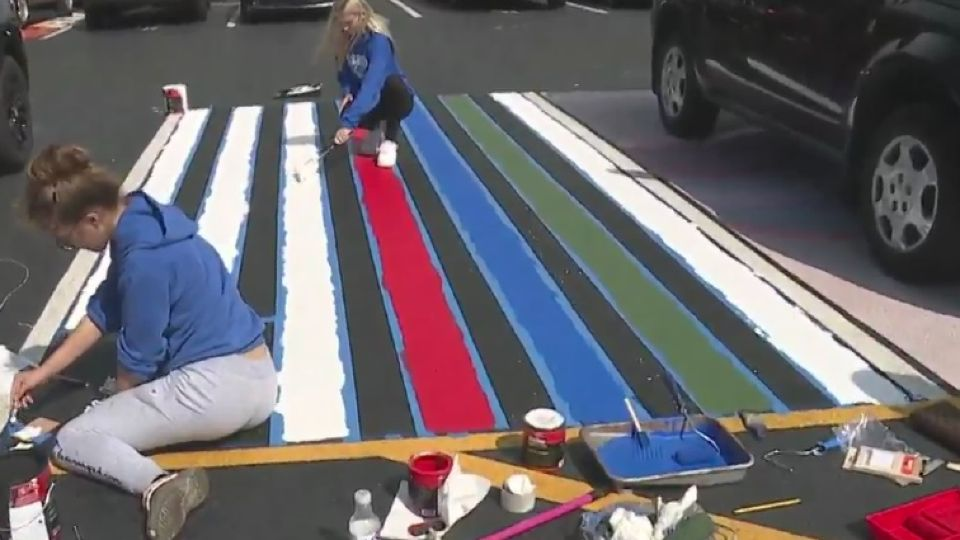 Painting parking spots at high schools is a popular pastime for seniors, but this year, the tradition was tarnished for one student.
