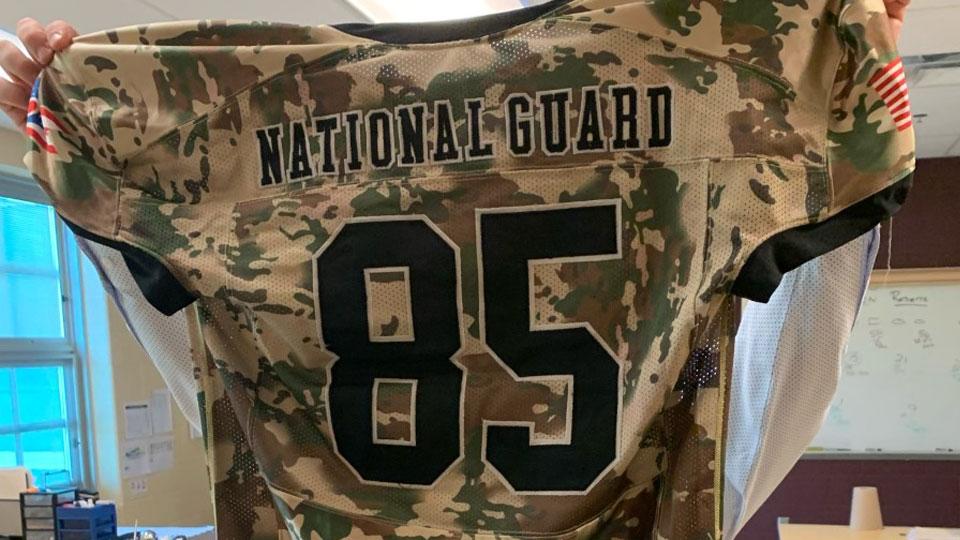 Jackson-Milton Camo 9/11 Memorial Football Jersey (1)