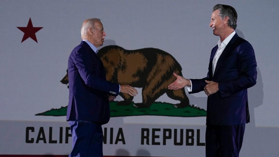 Joe Biden and Gavin Newsom
