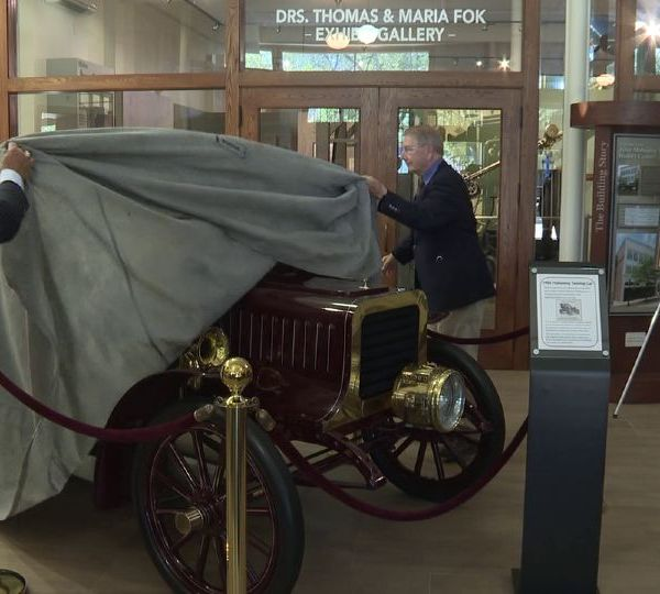 The Mahoning Valley Historical Society unveiled its newest item Thursday to the Tyler History Center.