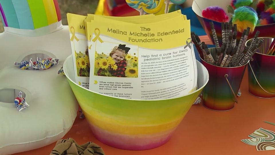 The event is in memory of 4-year-old Melina Edenfield, who was diagnosed with a fatal childhood brain tumor last year.