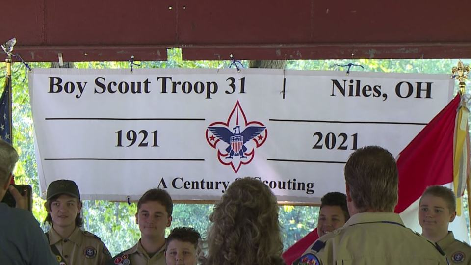 A Niles Boy Scout troop celebrated 100 years in the Valley on Sunday.