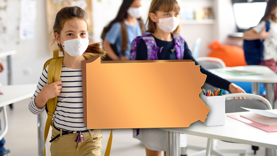 PA, Pennsylvania school covid masks