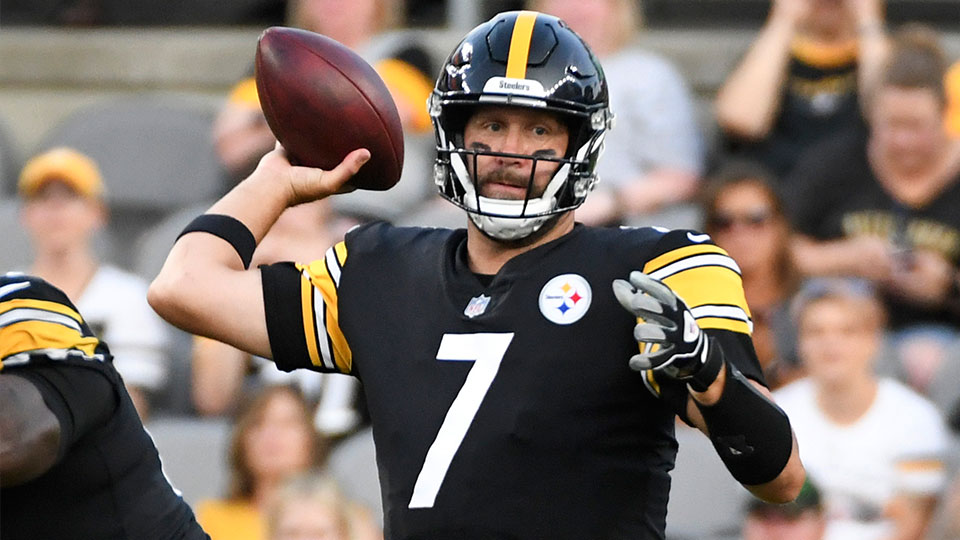 Pittsburgh Steelers quarterback Ben Roethlisberger throws a pass against the Detroit Lions during the first half of an NFL preseason football game Saturday, Aug. 21, 2021, in Pittsburgh