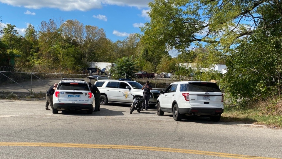 Police and state troopers working a special anti-crime patrol recovered a stolen motorcycle Thursday afternoon after a short chase, but the driver got away.