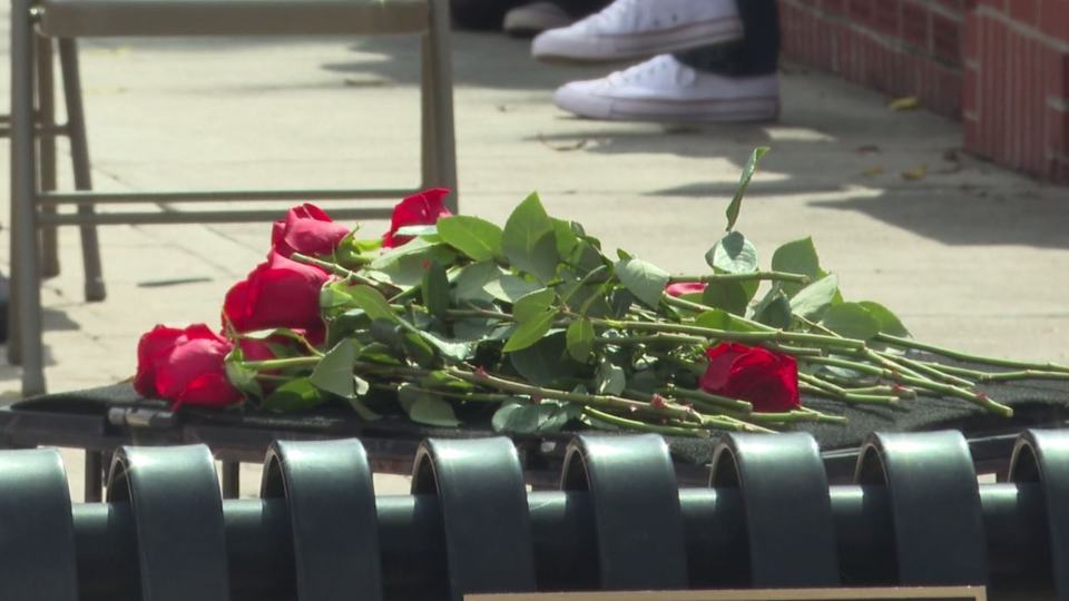 Trumbull County Veteran's Memorial Park in Warren held their annual laying of the rose ceremony Friday, honoring local war heroes that were prisoners of war or went missing in action.