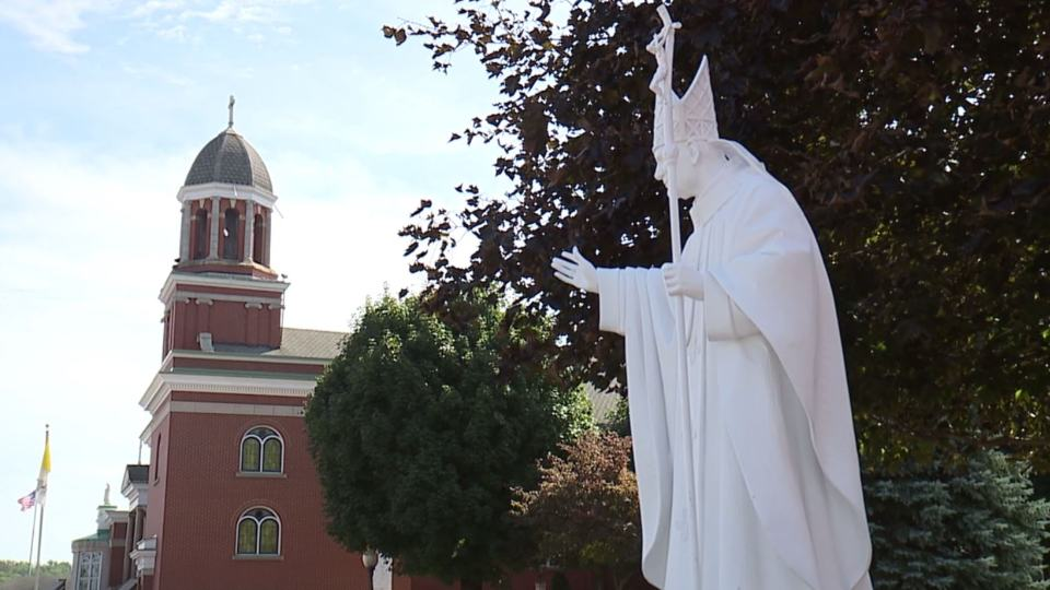 A number of the small statues outside of the Basilica of Our Lady of Mount Carmel have been replaced and others are due to arrive soon.