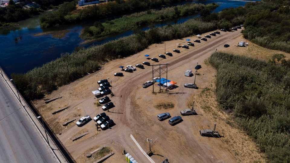 Texas border migrant camp
