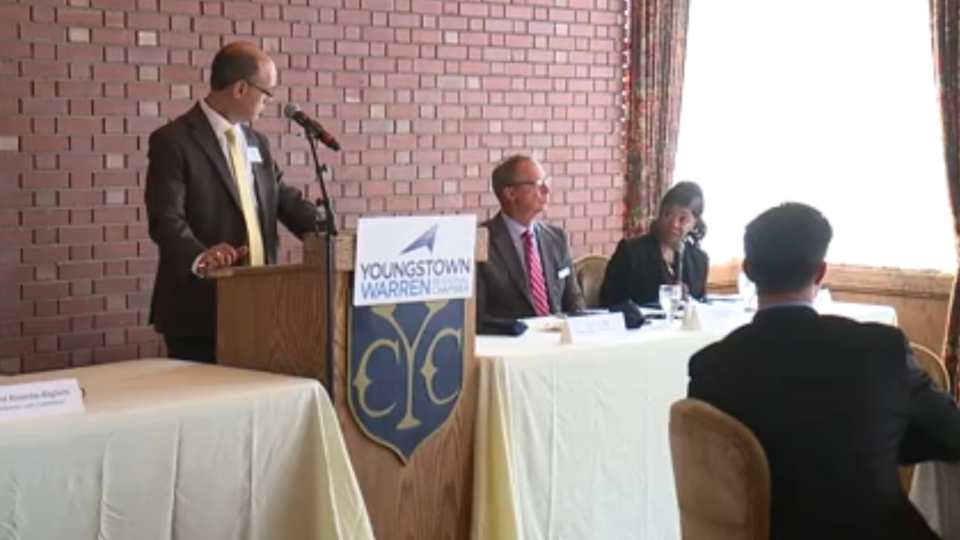 The Regional Chamber hosted a forum Tuesday afternoon on spending the nearly quarter-of-a-billion dollars that's been earmarked for governments throughout Mahoning and Trumbull counties.