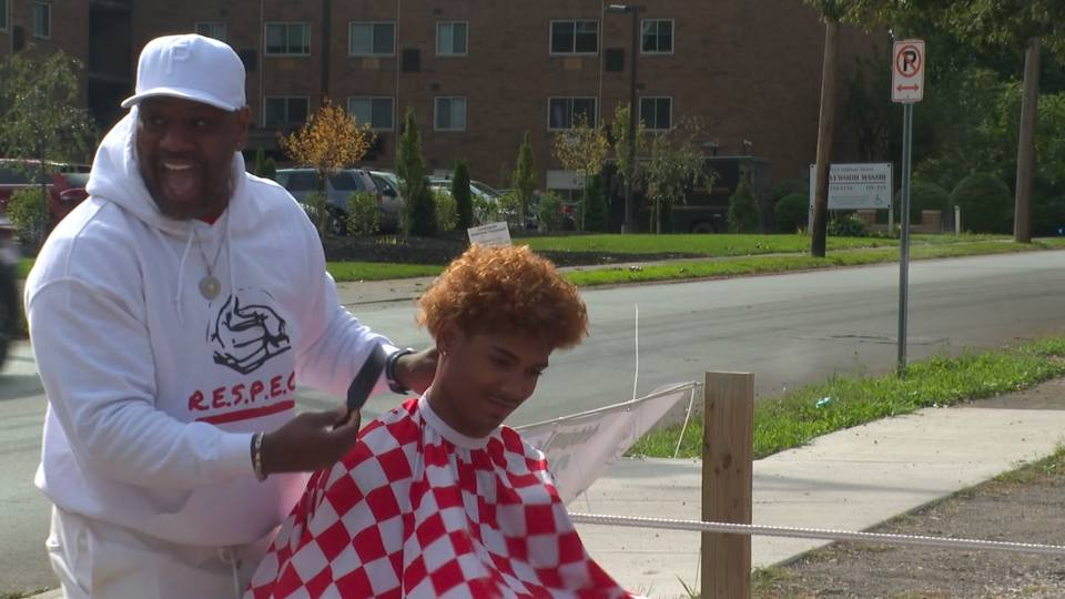 Kids got free haircuts Saturday at the second annual Barber's Barbecue.